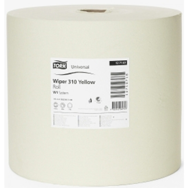 Tork W1 Basic 310 paperipyyhe 1-krs keltainen 33cm/1190m x 1rll