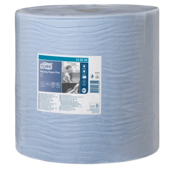 Tork W1 Plus 420 paperipyyhe 2-krs sininen 37cm/510m x 1rll