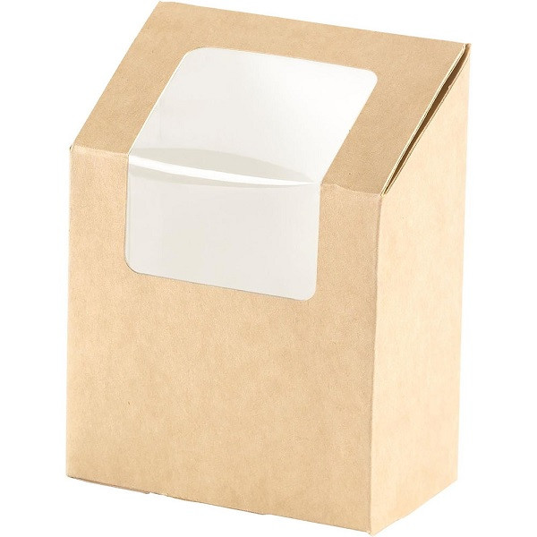 Duni ecoecho® wrap-rasia ruskea ikkunallinen kartonki/PLA 90x50x1130mm 550ml 1000kpl