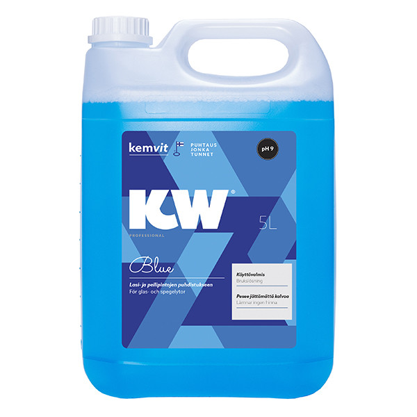 KW Blue peili- ja lasipintojen puhdistusaine 5L käyttövalmis