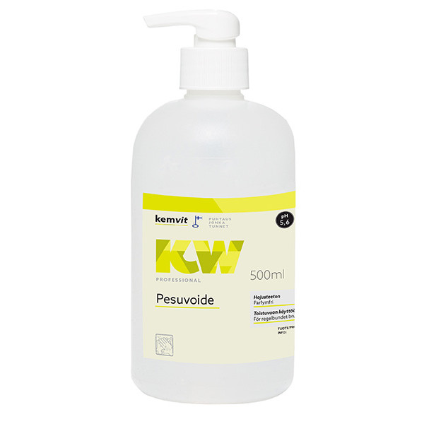 KW hajustamaton pesuvoide 500ml pumppupullo