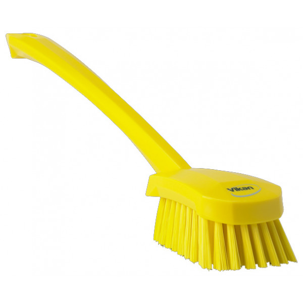 Vikan® pesuharja pitkä varsi medium/keskikova harjas 41,5cm keltainen