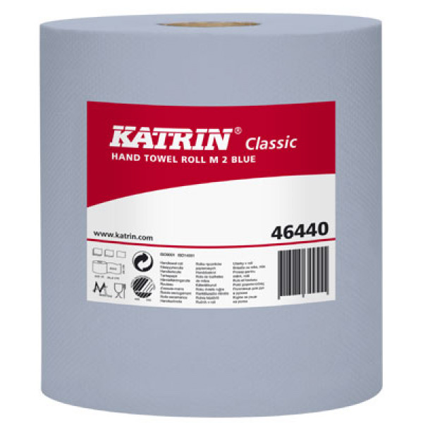 Katrin Classic M2 vetopyyhe 2-krs sininen 148m x 6rll
