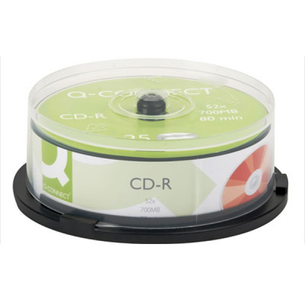 CD-R Q-Connect 52X 700MB/80min 25kpl spindle