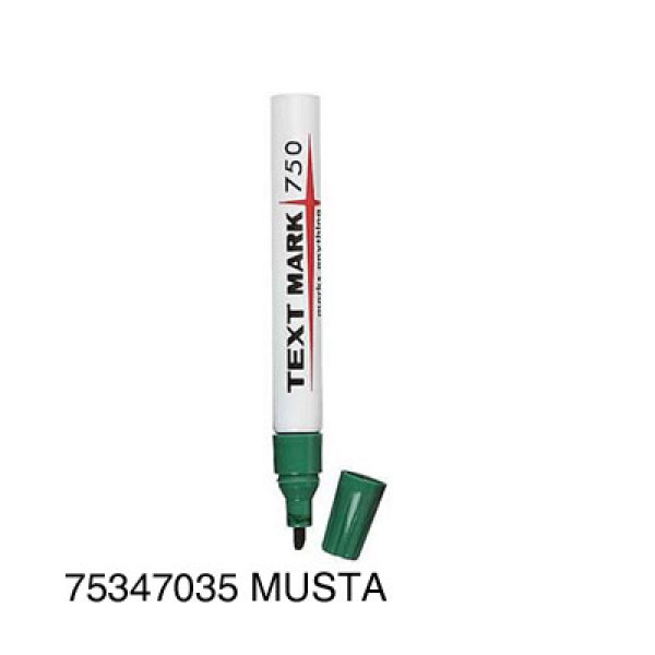 Huopakynä Textmark 750 musta viisto 2-5mm
