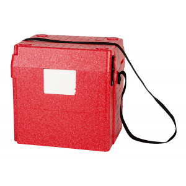 Kuljetuslaukku 15L punainen EPP tekstiilihihna + osoitetasku