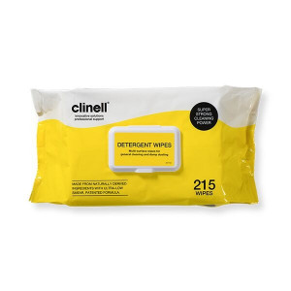 Clinell Detergent puhdistuspyyhe 215kpl
