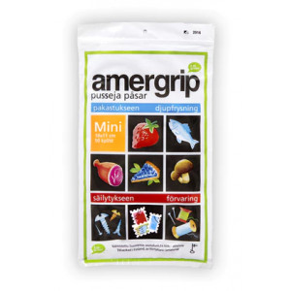 Amergrip monikäyttöpussi 0,2L mini 50kpl