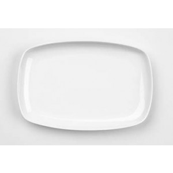 Menu lautanen suorakaide 31x20,3cm valkoinen 6kpl