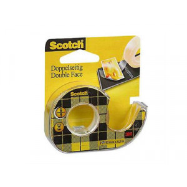 Teippi Scotch 136D 2-puolinen 12mm x 6m katkojalla