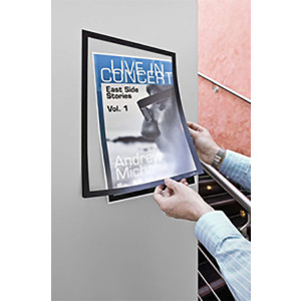 Duraframe® infotasku A3 magneettireunoilla 2kpl musta