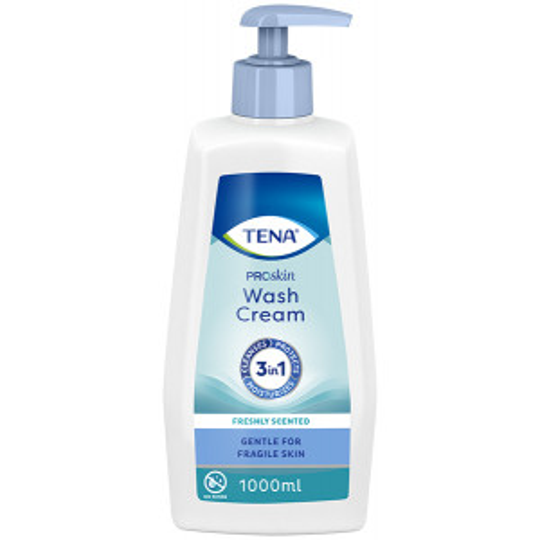 TENA ProSkin Wash Cream pesuvoide 1L pumppupullo