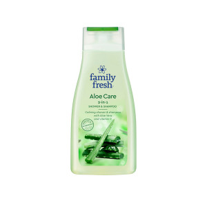 Family Fresh Aloe Care shower & shampoo 500ml
