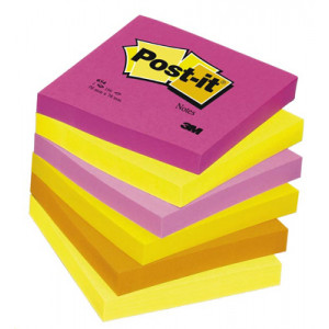 Viestilappu Post-It 654 Energetic 76x76mm 6x100kpl