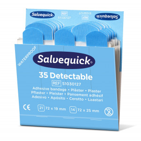 Salvequick sininen muovilaastari 6x35kpl