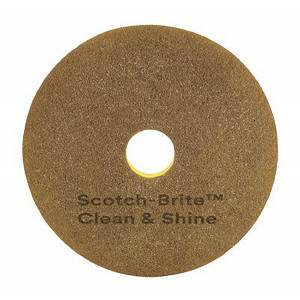 "Laikka 3M Scotch-Brite™ Clean & Shine ruskea 18""/460mm 2-puoleinen"
