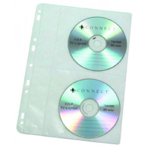 CD-kansiotasku A4 4xCD PP 10kpl