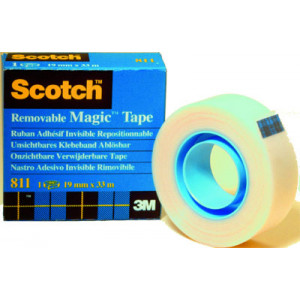 Asiakirjateippi Scotch Magic Removable 811 19mm/33mm