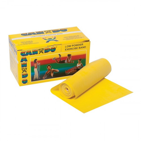 CanDo®-vastuskuminauha vähäpuuterinen 12cm x 5,5m keltainen - x-light