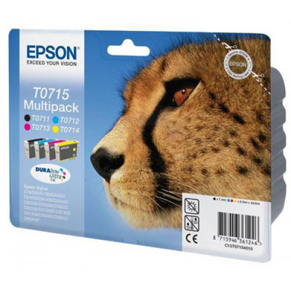 Epson T0715 Multipack 4 värin musteikasettipakkaus
