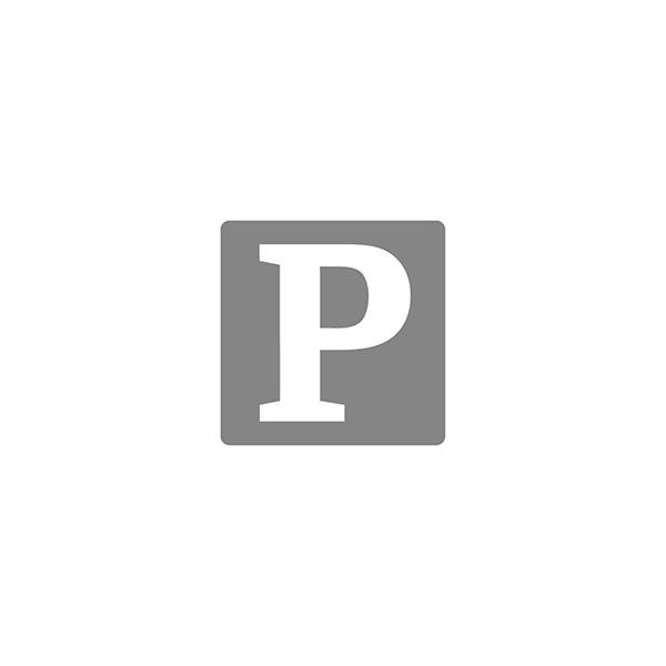 Lääkelisäystarra punainen pohja musta teksti 70x40mm 500kpl