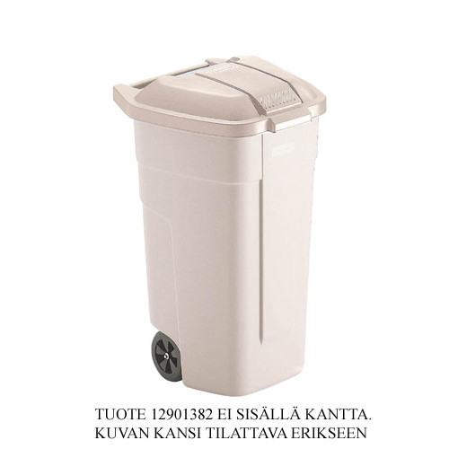 Rubbermaid Mobile Jäteastia 100L beige