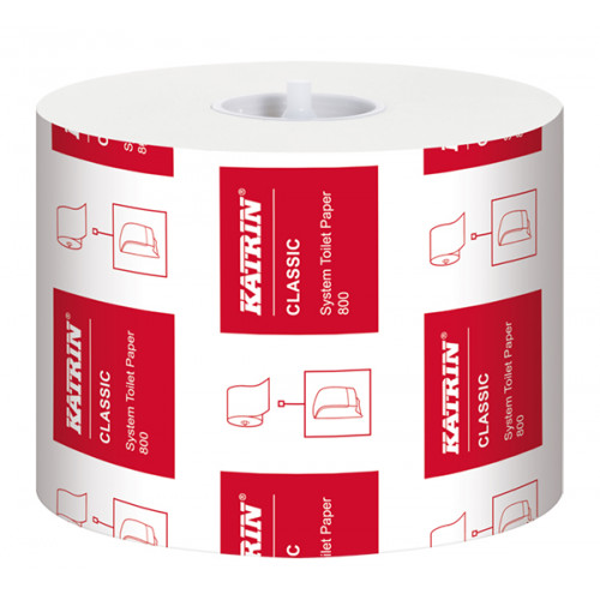 Katrin Classic System Toilet 800 wc-paperi 2-krs valkoinen 36rll