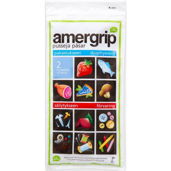 Amergrip monikäyttöpussi 2L 10kpl