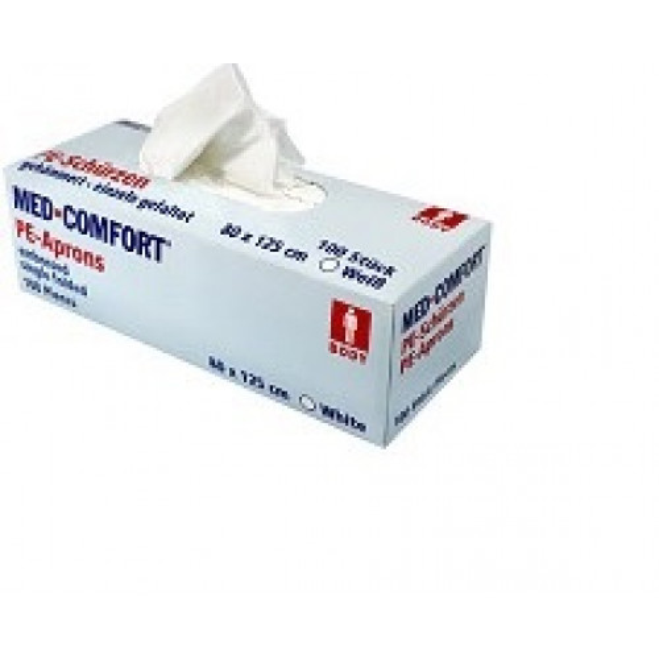 Med-Comfort® esiliina 80x125 cm valkoinen 100kpl