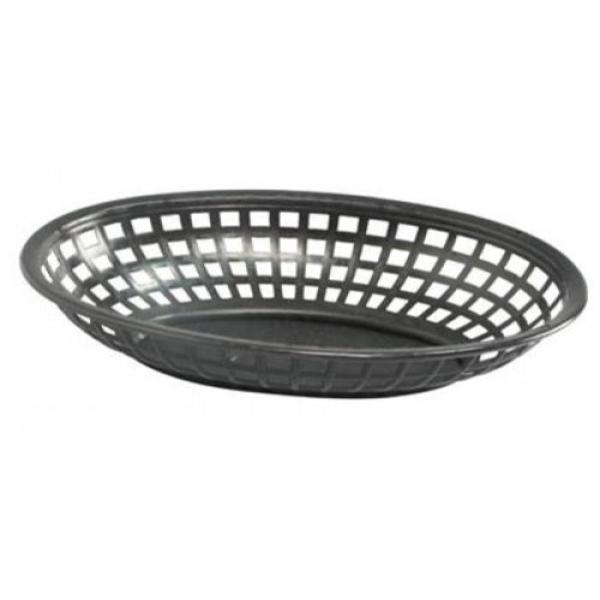 Tarjoilukori musta soikea 24x15x5cm