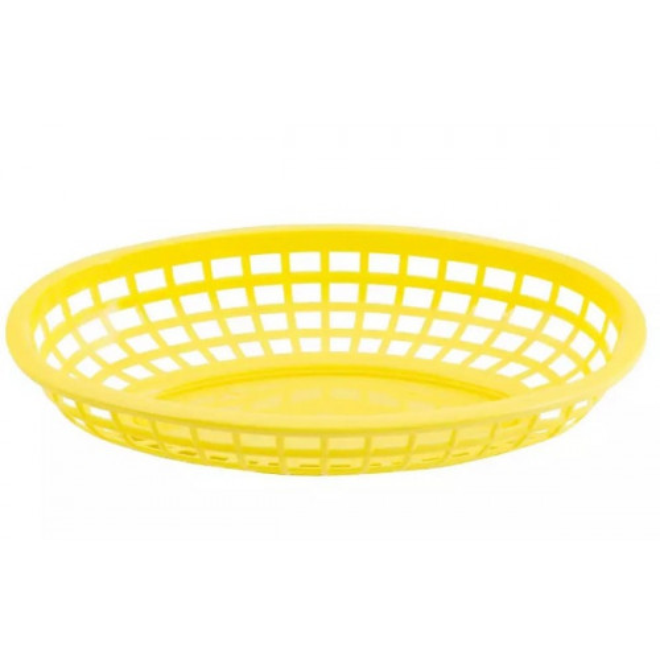 Tarjoilukori keltainen soikea 24x15x5cm