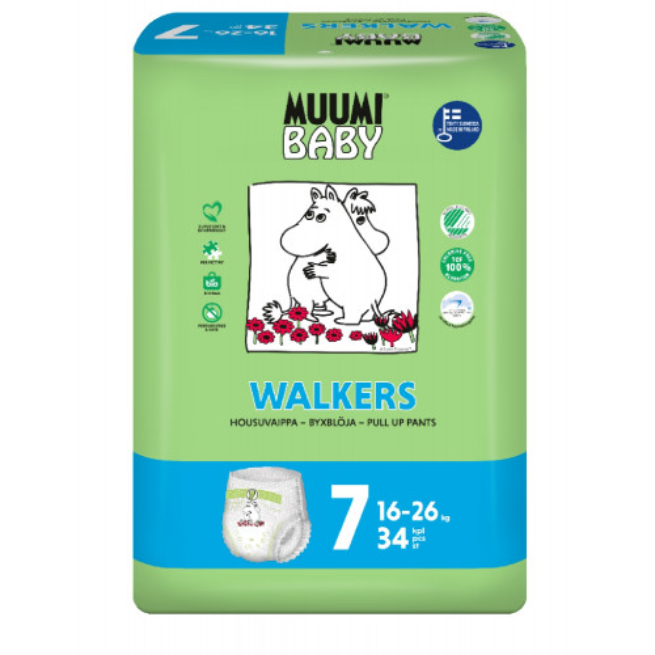 Muumi® Baby Walkers housuvaippa koko 7 16-26kg 34kpl