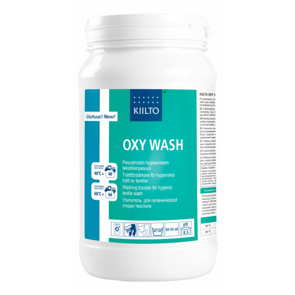 Kiilto Oxy Wash jauhemainen pesutehostin 1,8kg