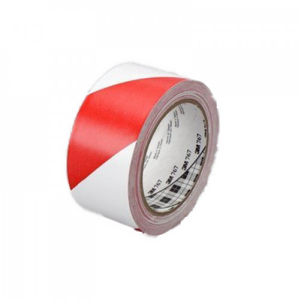 3M huomioteippi/varoitusteippi punainen/valkoinen 50mmx33M