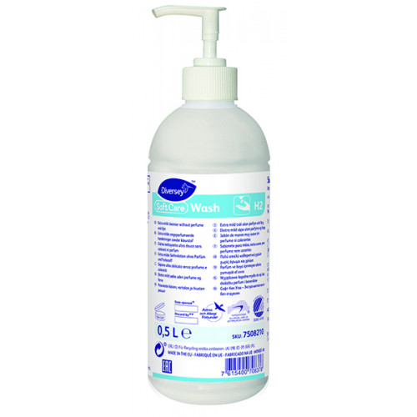Soft Care Wash H2 pesuneste 500ml pumppupullo
