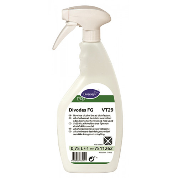 Divodes FG VT29 alkoholipohjainen desinfiointiaine 750ml
