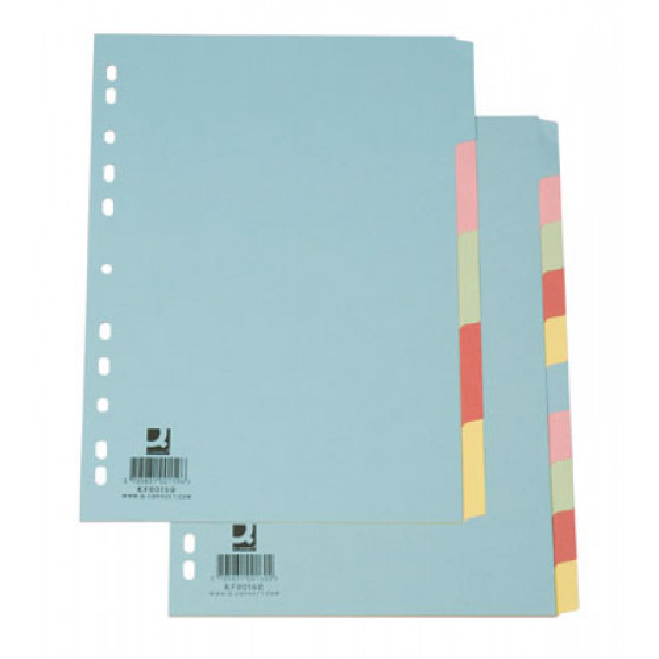 Hakemisto A4 blanco 5-osainen kartonki värillinen