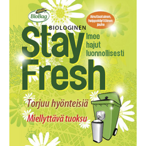 Stay Fresh Biologinen jauhe jäteastioihin 500g
