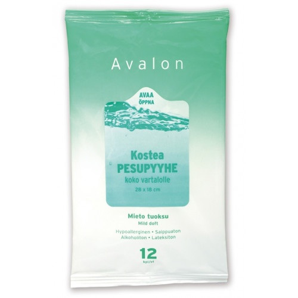 Avalon ihonpesupyyhe 28x18cm 12kpl