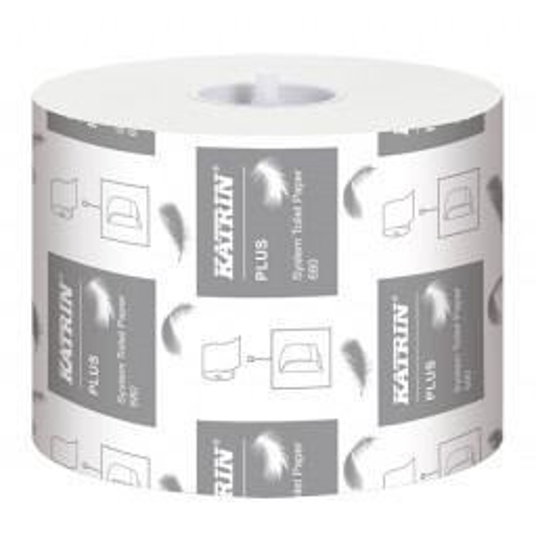 Katrin Plus System Toilet 680 wc-paperi 2-krs valk 36rll