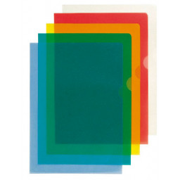 Muovitasku Premium A4 PP 105my vihreä 2-sivua auki 100kpl